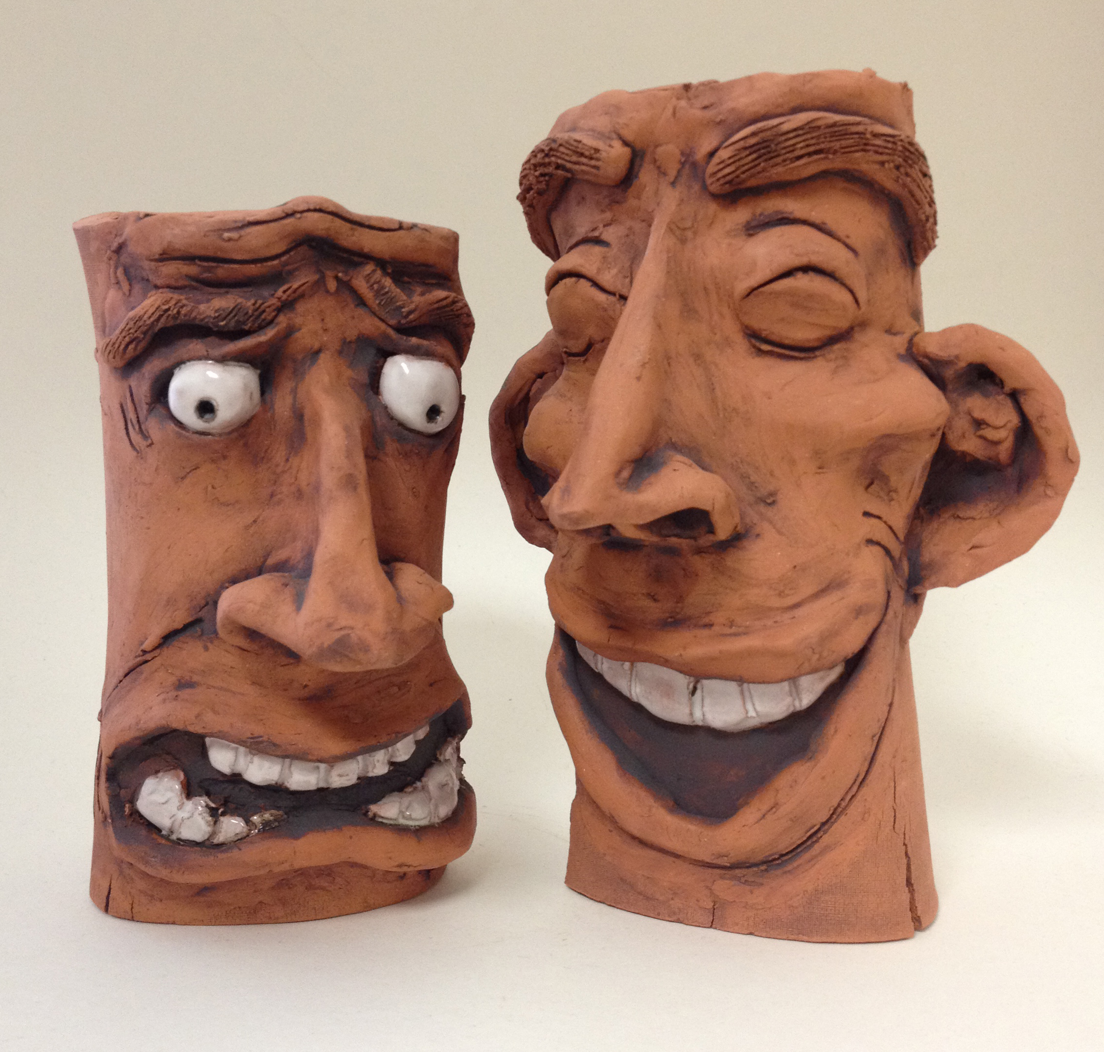 Expressive face vase art with ms long for this project you will create a vase using pinch coil or slab methods or the wheel for advanced students and on this vase you will create a face reviewsmspy