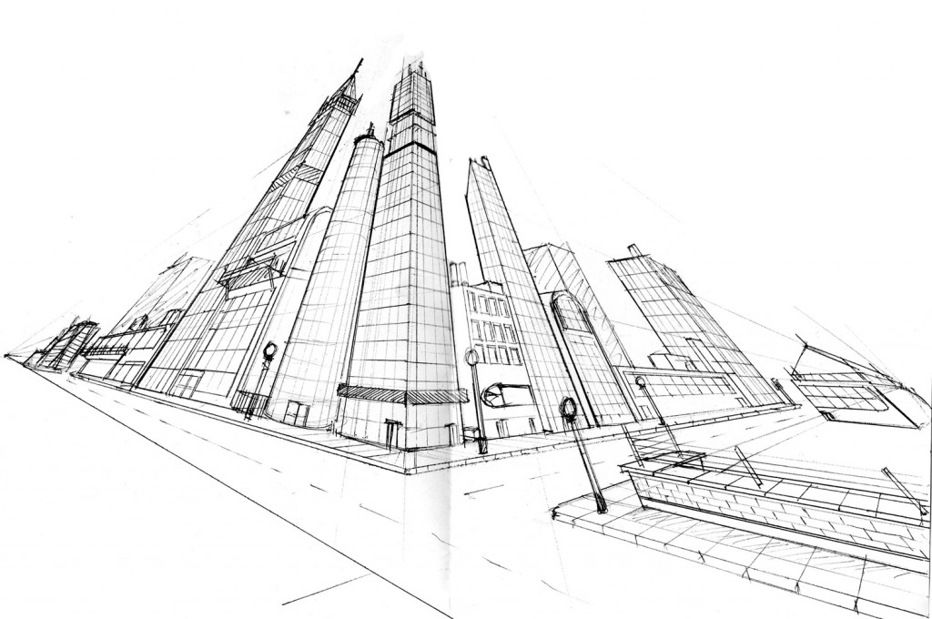 Three-Point Perspective City | Art with Ms. Long