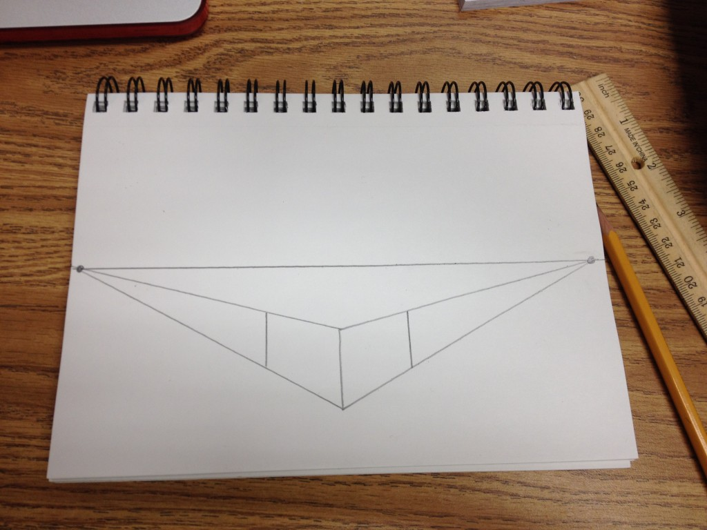 Vertical Line Art : Converging lines art with ms long